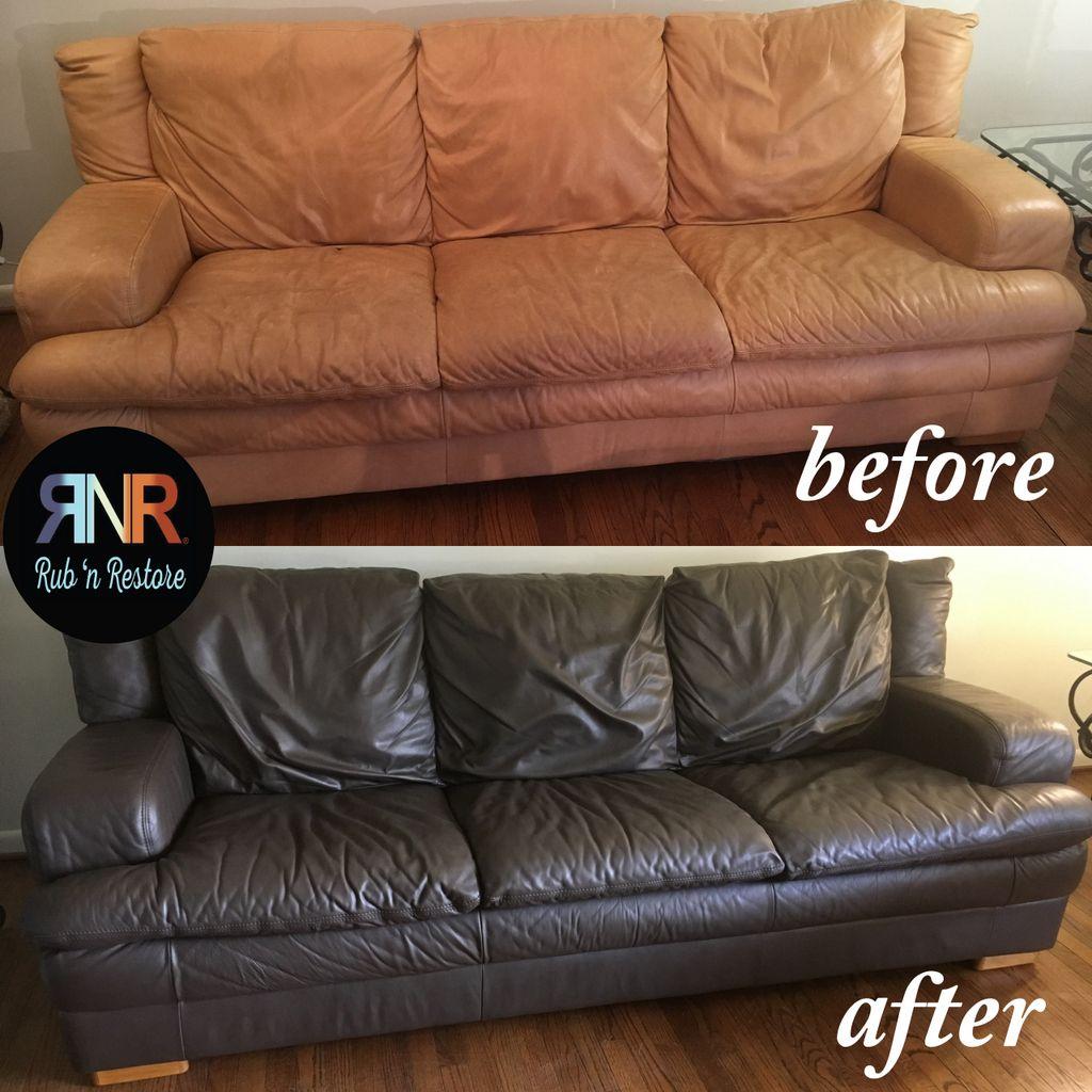 Espresso Dark Brown Vinyl Leather Furniture Dye Finish