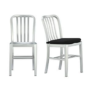 Delta Aluminum Dining Chair And Cushion Crate And Barrel