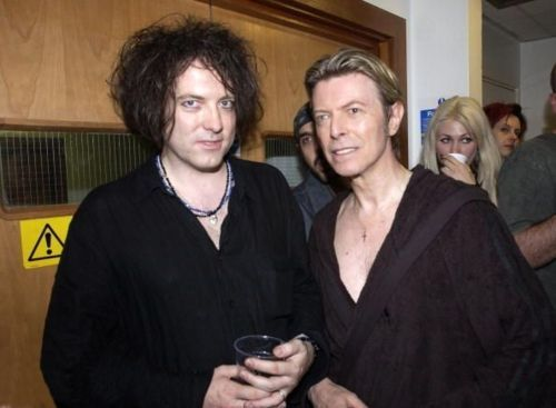David Bowie and Robert Smith