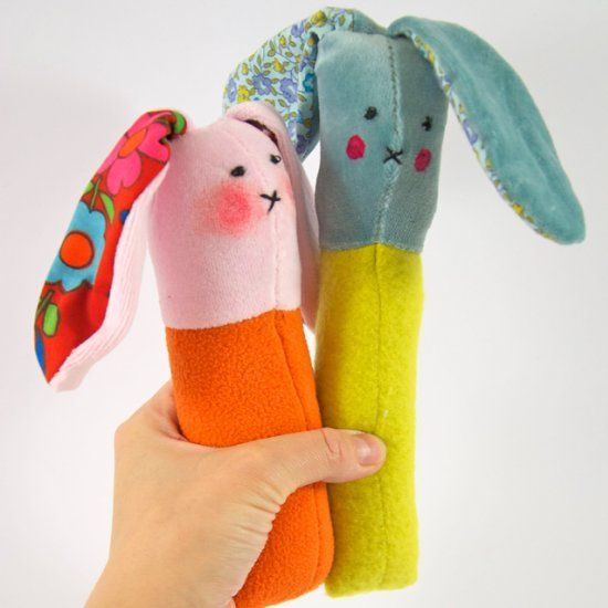 All you need are some soft fabric scraps and some batting to make here is adorable bunny rattle craft how cute is this they would be lovely as a new baby gift or also as alternative easter gifts instead of chocolate negle Image collections