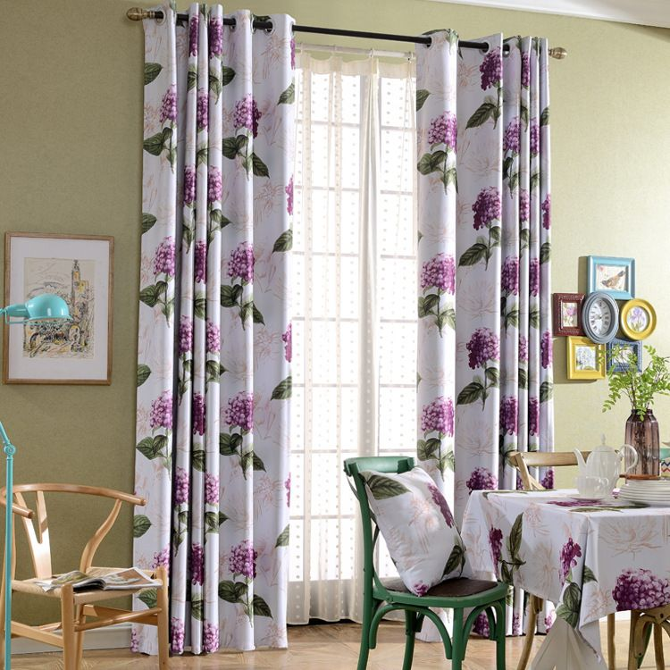 Purple Bedroom Curtains Stunning New Arrival Korean Pastoral Style Purple Flowers Printed Cloth Decorating Inspiration