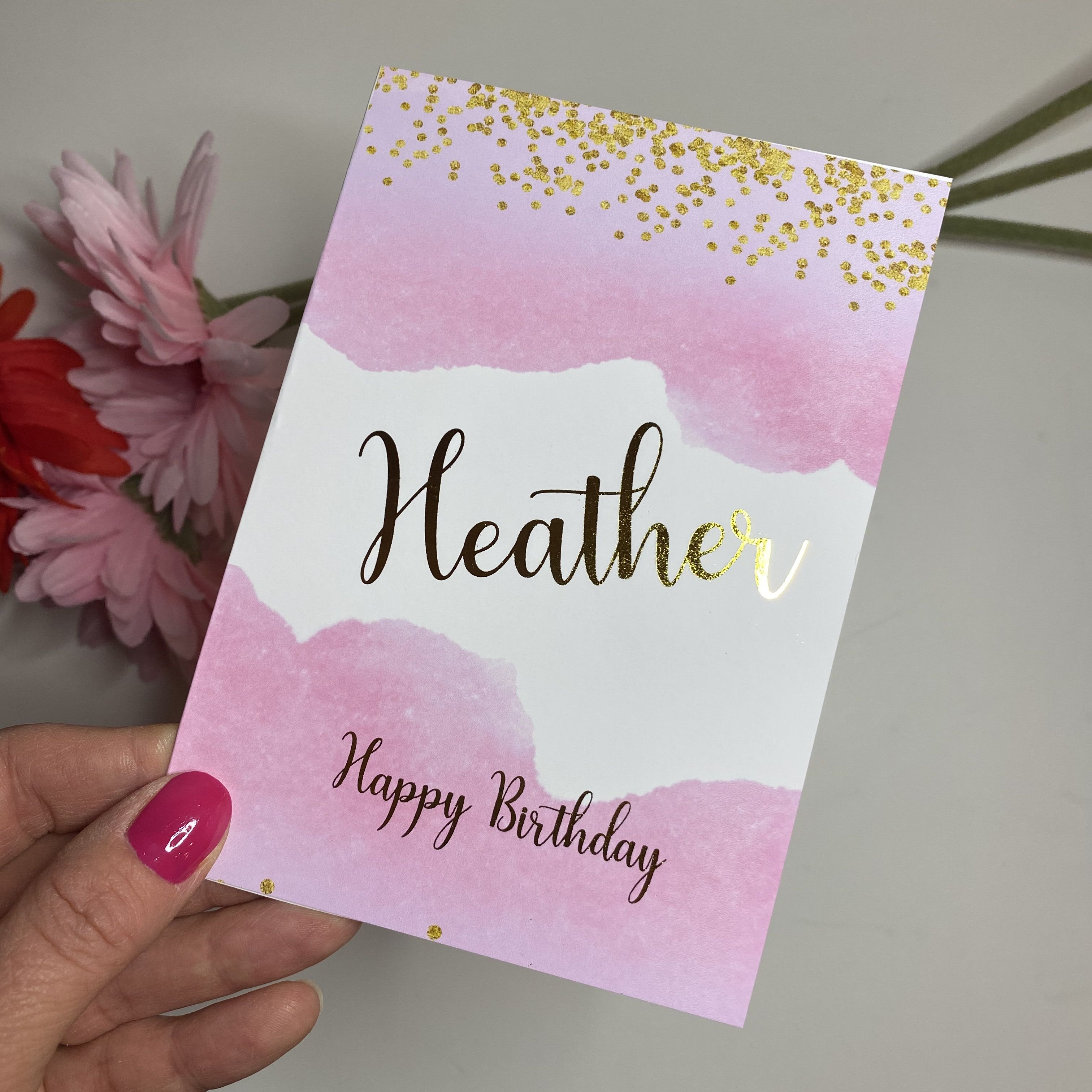 Real Foil Birthday Card Personalised Card Making Supplies Personalized Greeting Cards Personal Cards