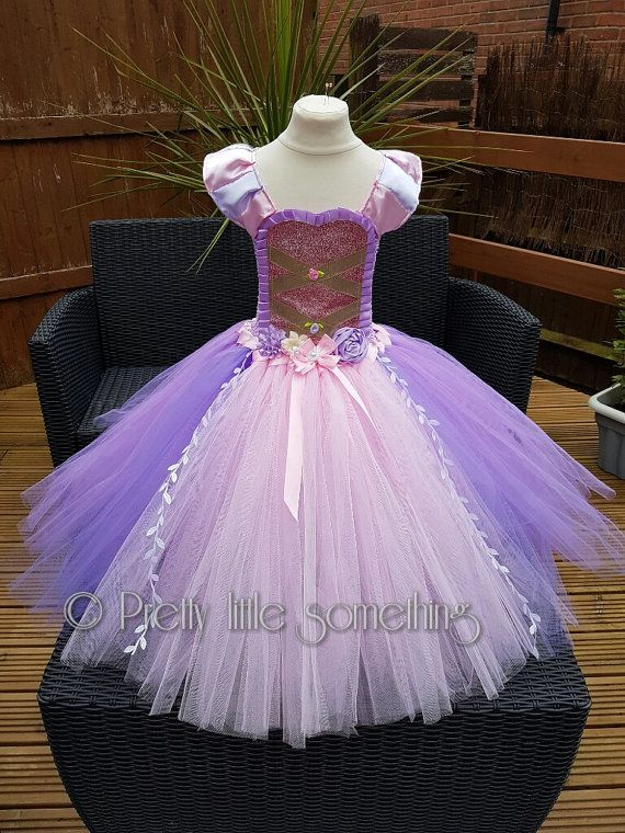 d1a3f710b Rapunzel inspired tutu dress, princess tutu, party dress, pink ball gown,  photo prop, birthday outfit, girls dress, fancy dress | Pinterest | Tangled  ...