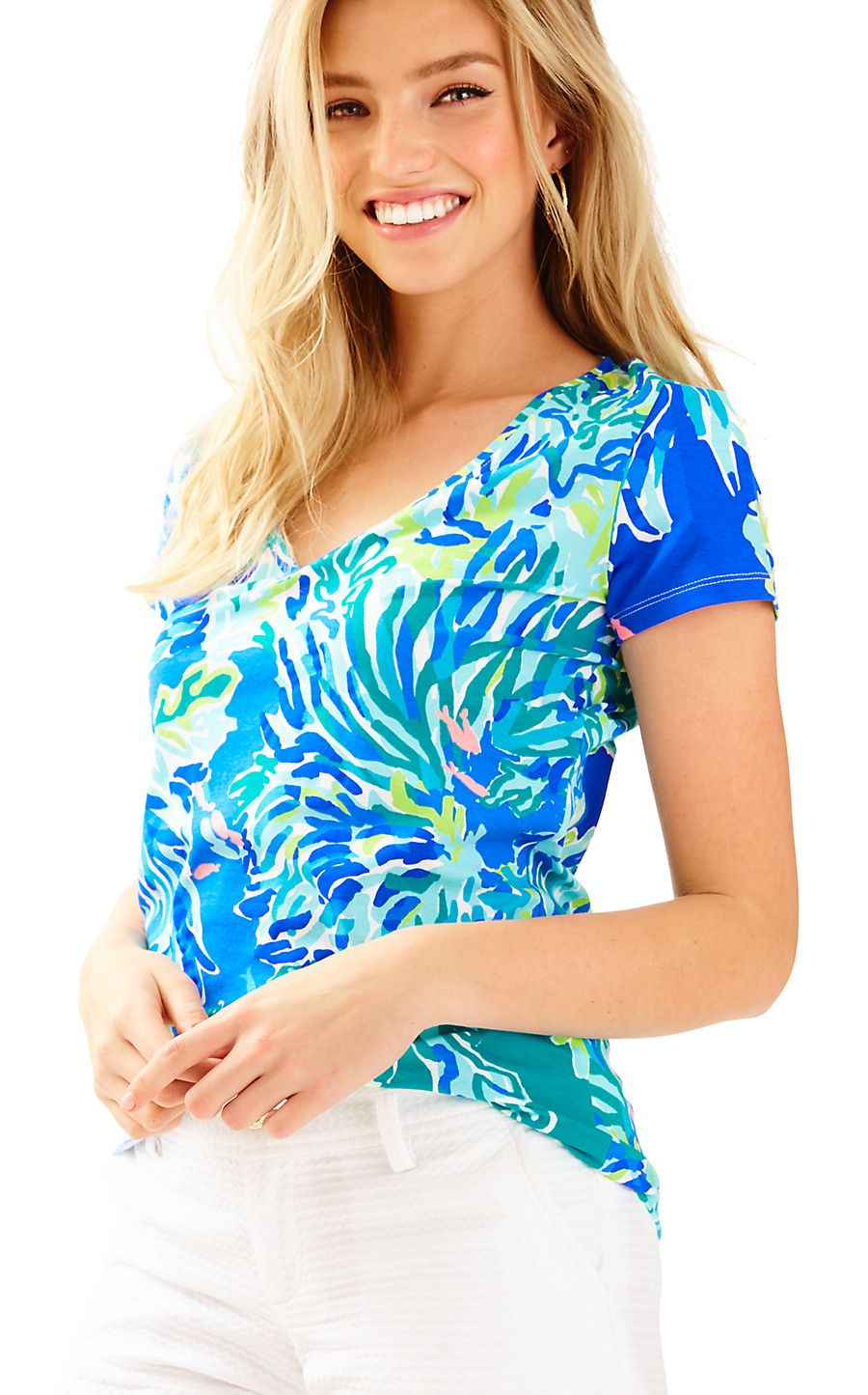 afcb39ab7499e6 Michele Top - Lilly Pulitzer | Lovely Lilly Pulitzer | V neck tops ...