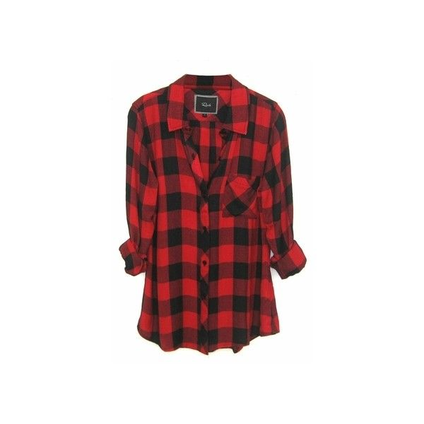 Rails Hunter Plaid Shirt in Black/Red Check ($128) ❤ liked on ...