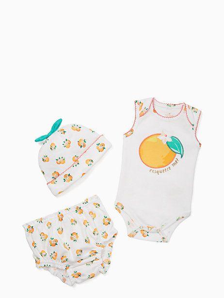 5db5d85db42d Kate Spade Layette Orangerie Three-piece Set, Orangerie - Size 6M Baby  Clothes Sale