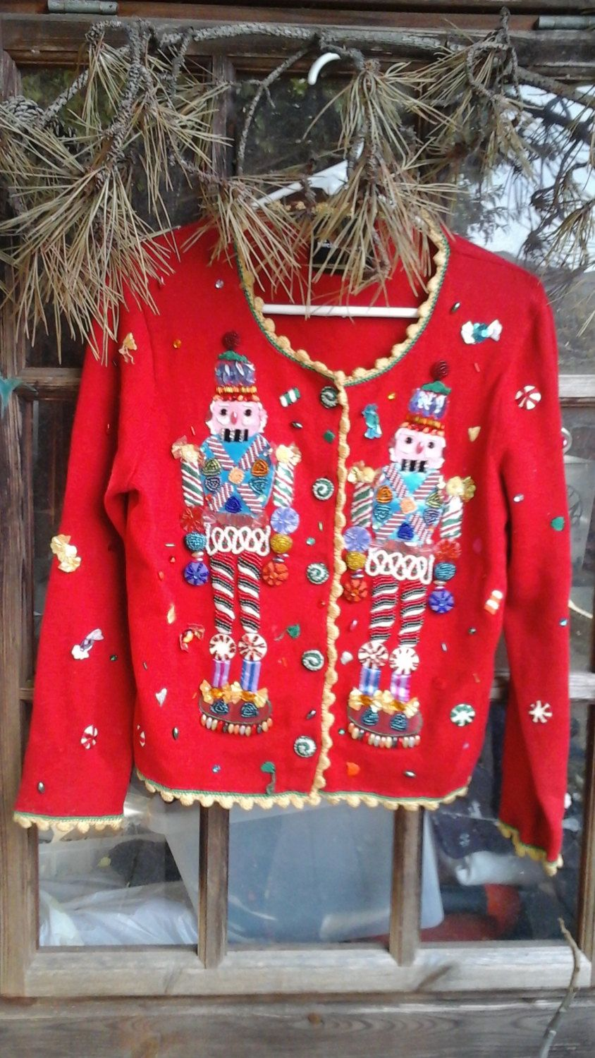 Nutcracker vintage ugly Christmas sweater by