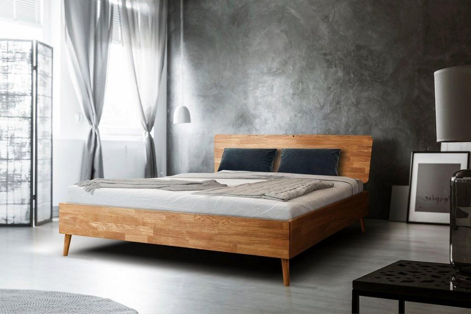 Home Affaire Bett Scandi Aus Massivem Eichenholz Mit
