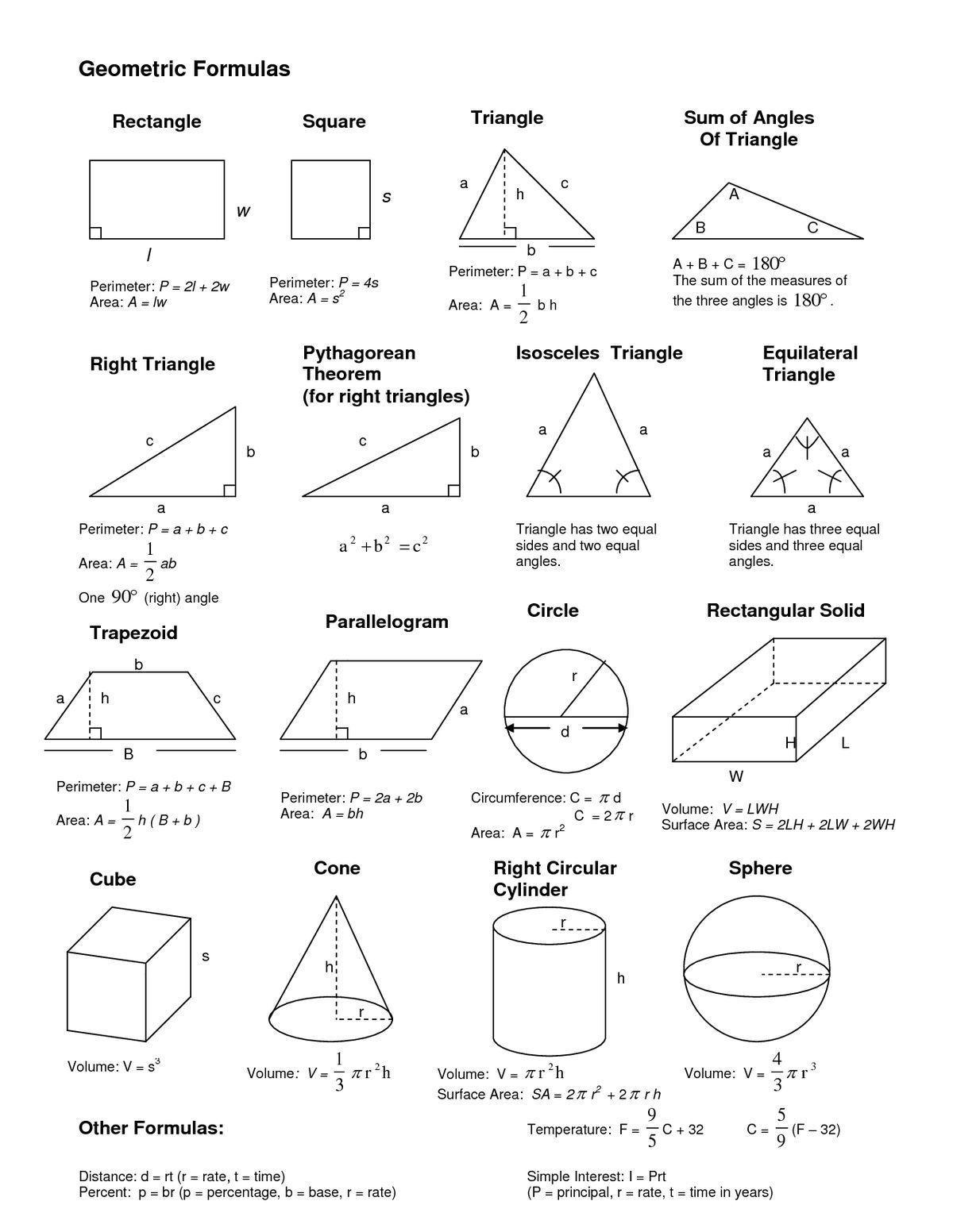 Formeln Mathe