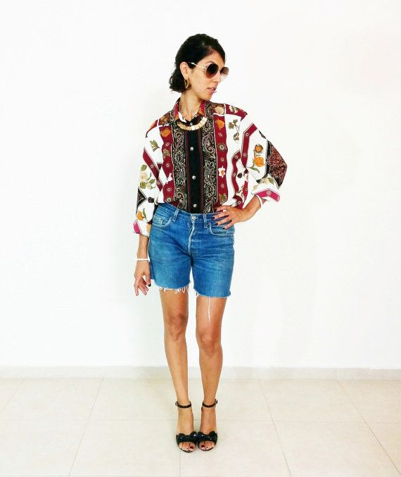 67c9e29fcafb43 BOHO GYPSY TOP 80s vintage ethnic blouse hippie by SubCollection