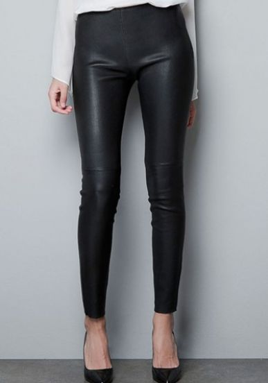 e45526320878 Black Side Zipper PU Leather Skinny Pants pictures | Shopping List ...