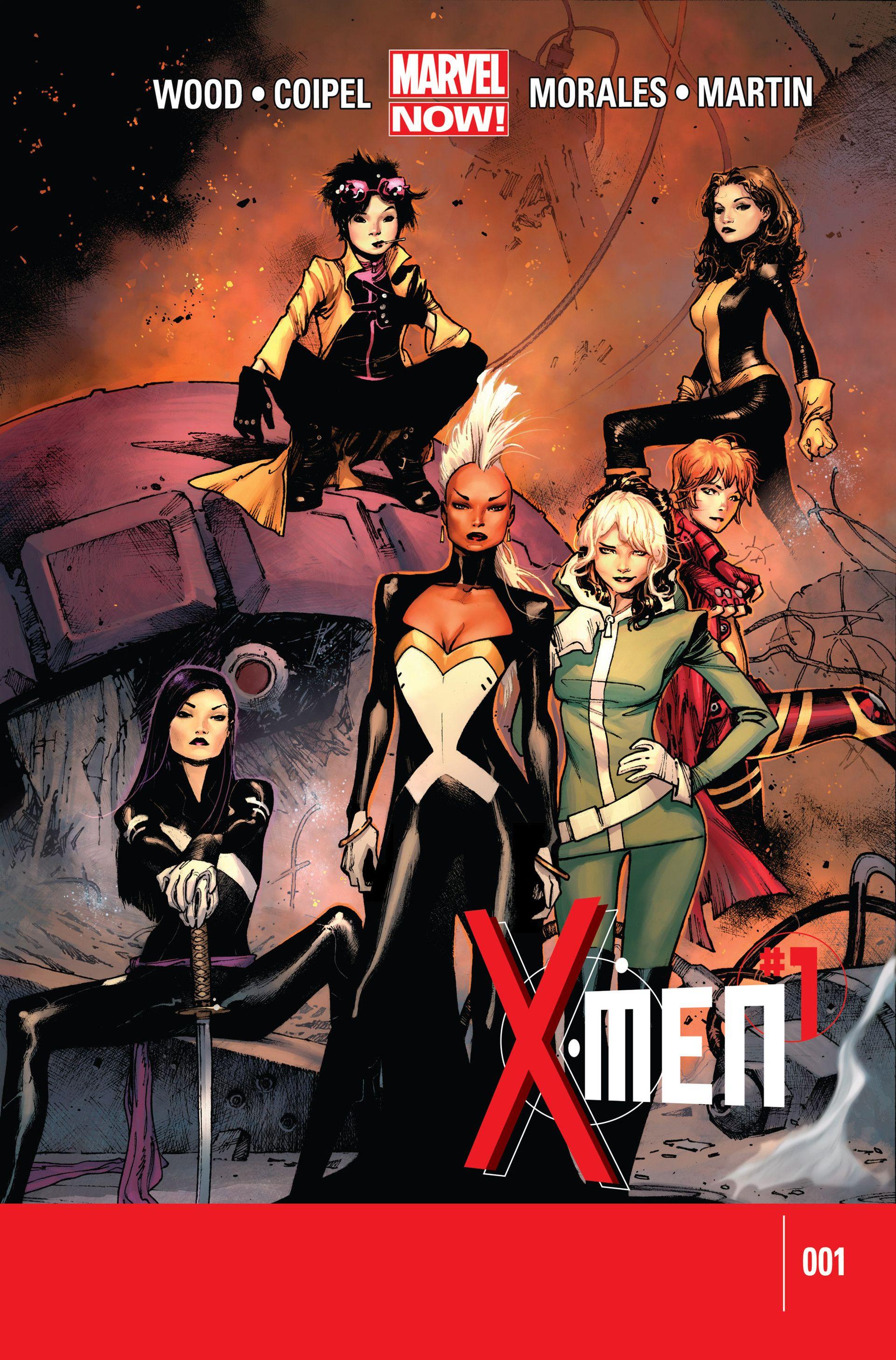X Men V4 01 Oliver Coipel Love The Cover Love The Team X Men Marvel Now Marvel Comics