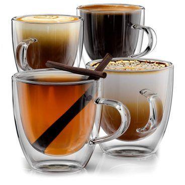 5569e9e4d788 Stone & Mill Double Wall Insulated Glass Espresso Mugs. Top 10 Best Glass  Coffee ...