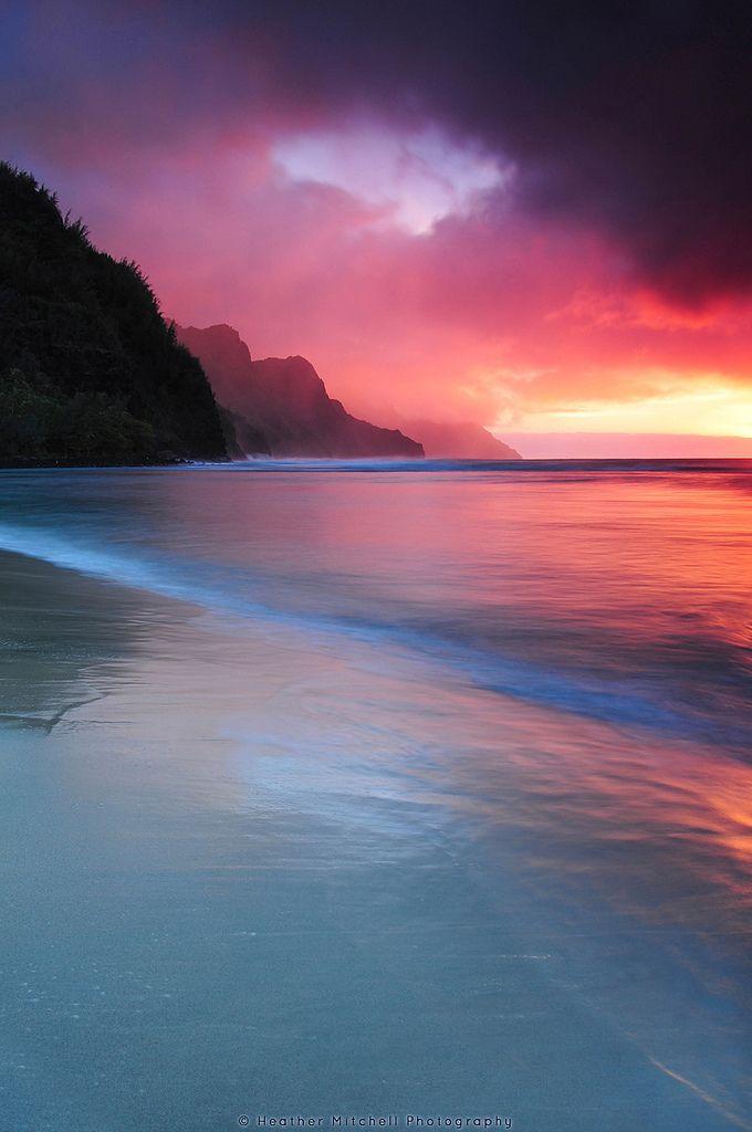 Kauai Sunset Flickr Photo Sharing Beautiful Places Landscape Nature