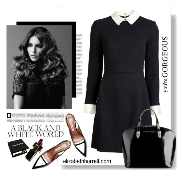 """""""LIZ"""" by elizabethhorrell ❤ liked on Polyvore featuring BaByliss Pro, Victoria Beckham, Tabitha Simmons and Giorgio Armani"""