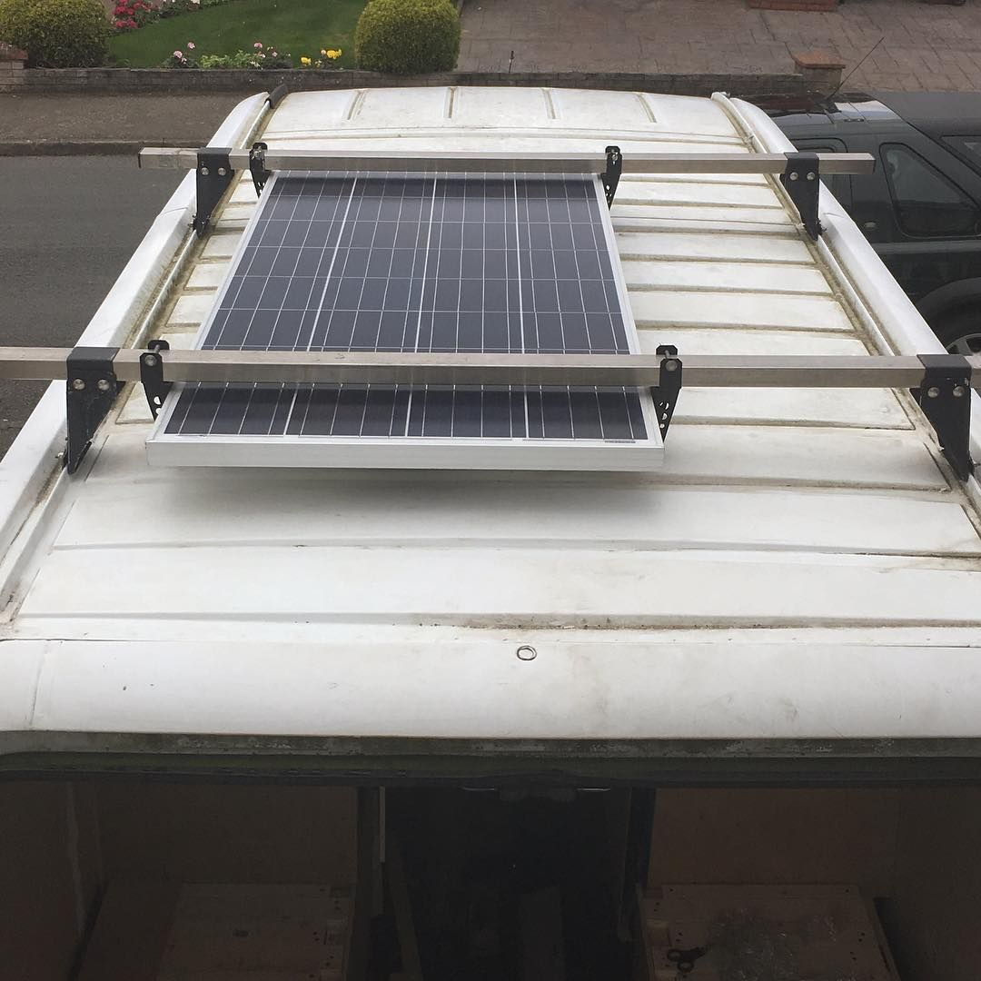 how to build a solar panel rack