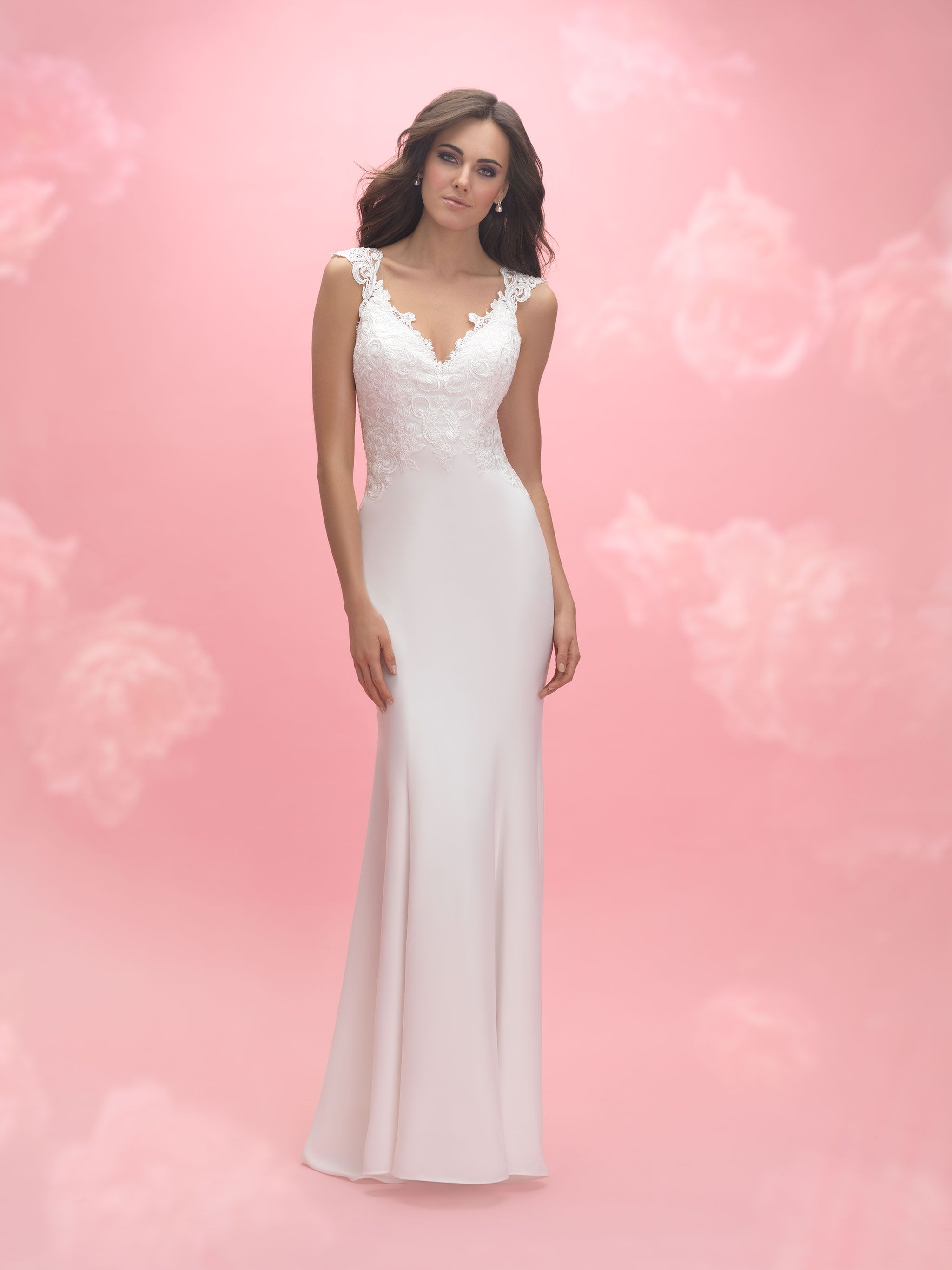 Allure Romance Style: 3058 Crepe and lace beautifully complement one ...