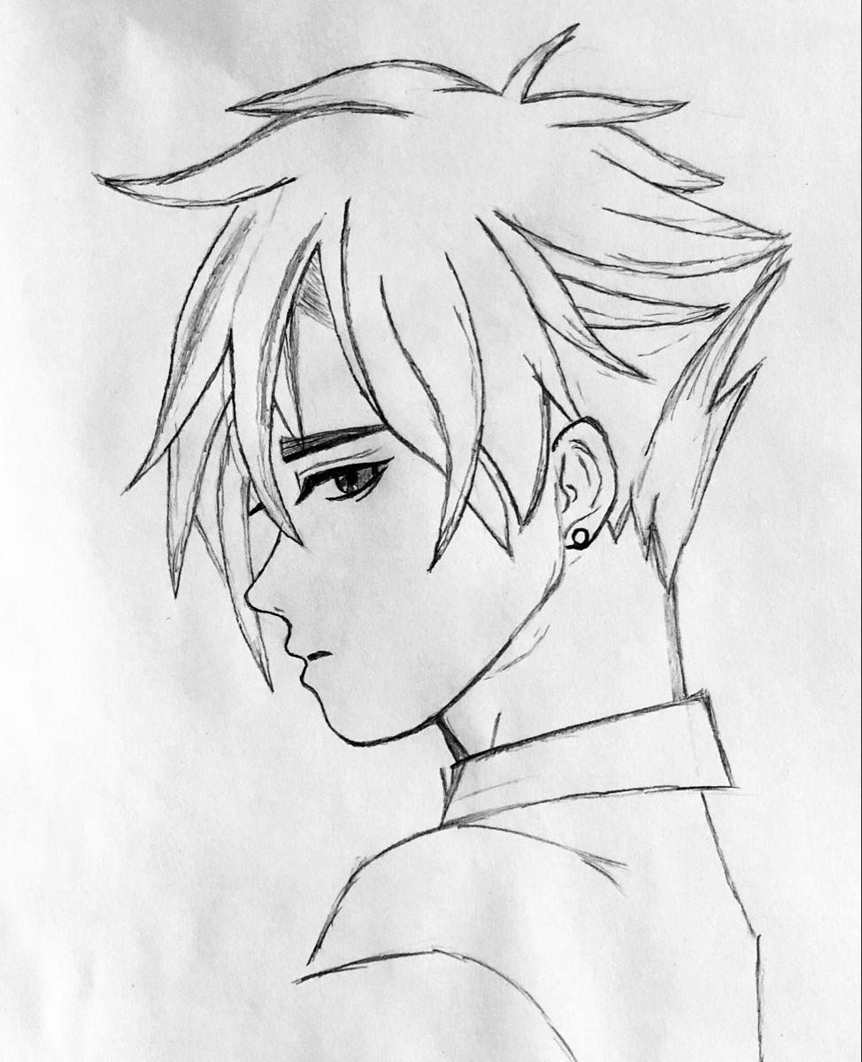 Anime Manga Sketch Drawing Boy Girl Men Man Pencil Cute Beginner