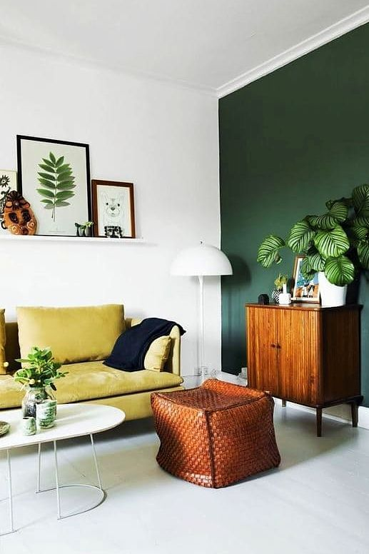 Image Result For Green Accent Wall Light Walls