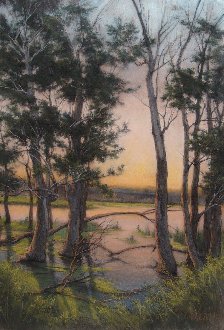 """""""High Water"""" pastel 51.5""""x31.25"""" framed"""