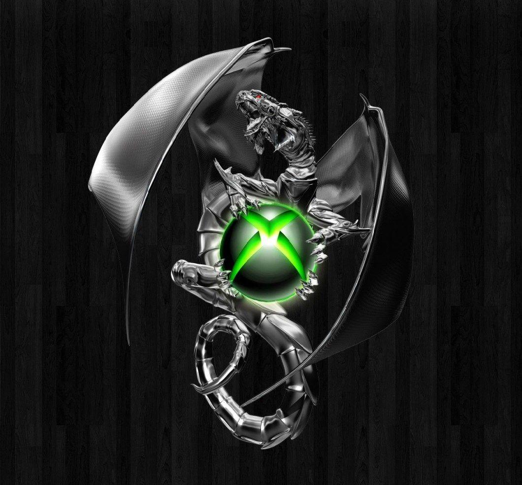 Cool Dragon Xbox Logo iPhone Wallpaper Design Fondos de