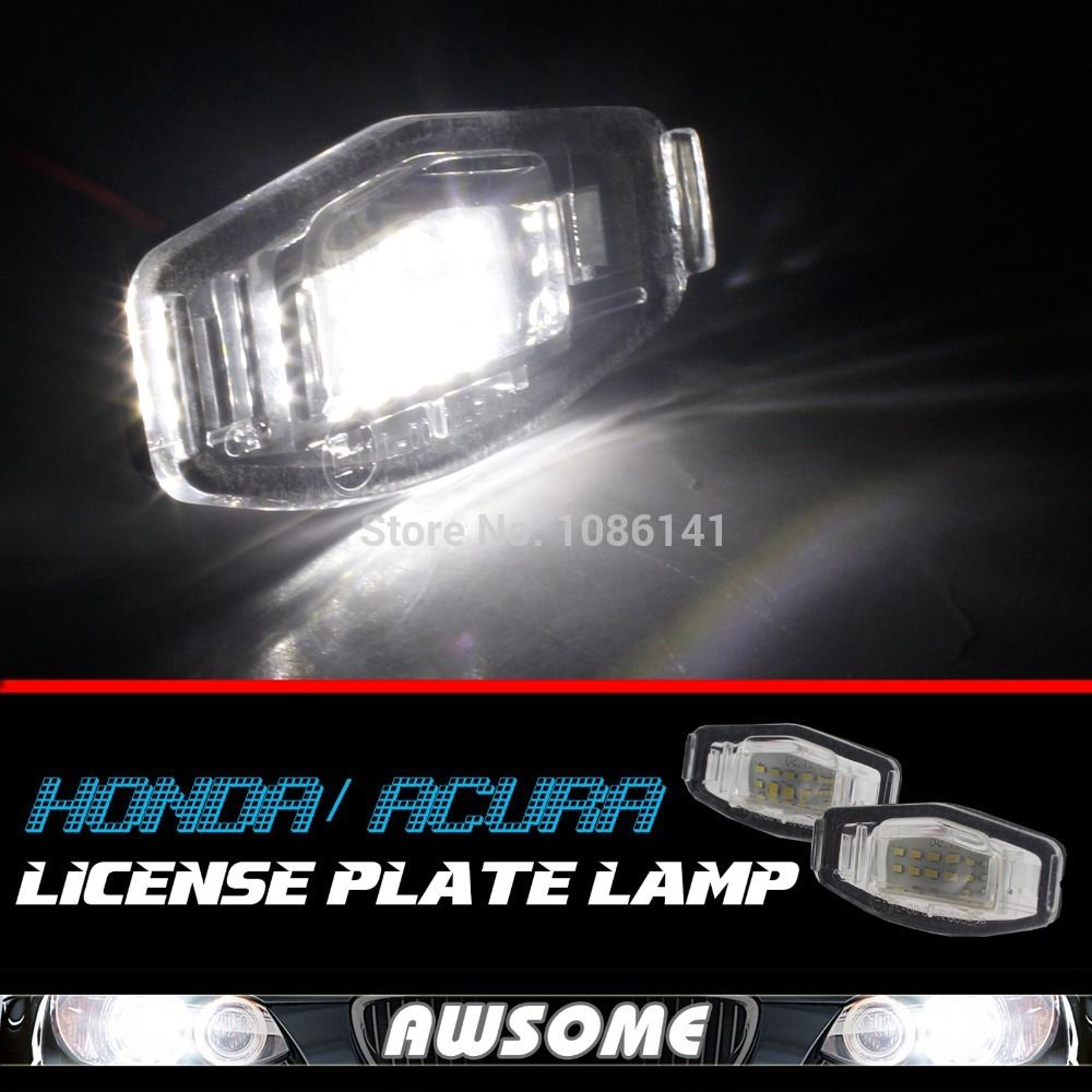 (Buy here: http://appdeal.ru/1zdf ) 2x LED License Plate Number Light Xenon White For Civic For Accord Odyssey MDX  RL TL TSX for just US $27.59