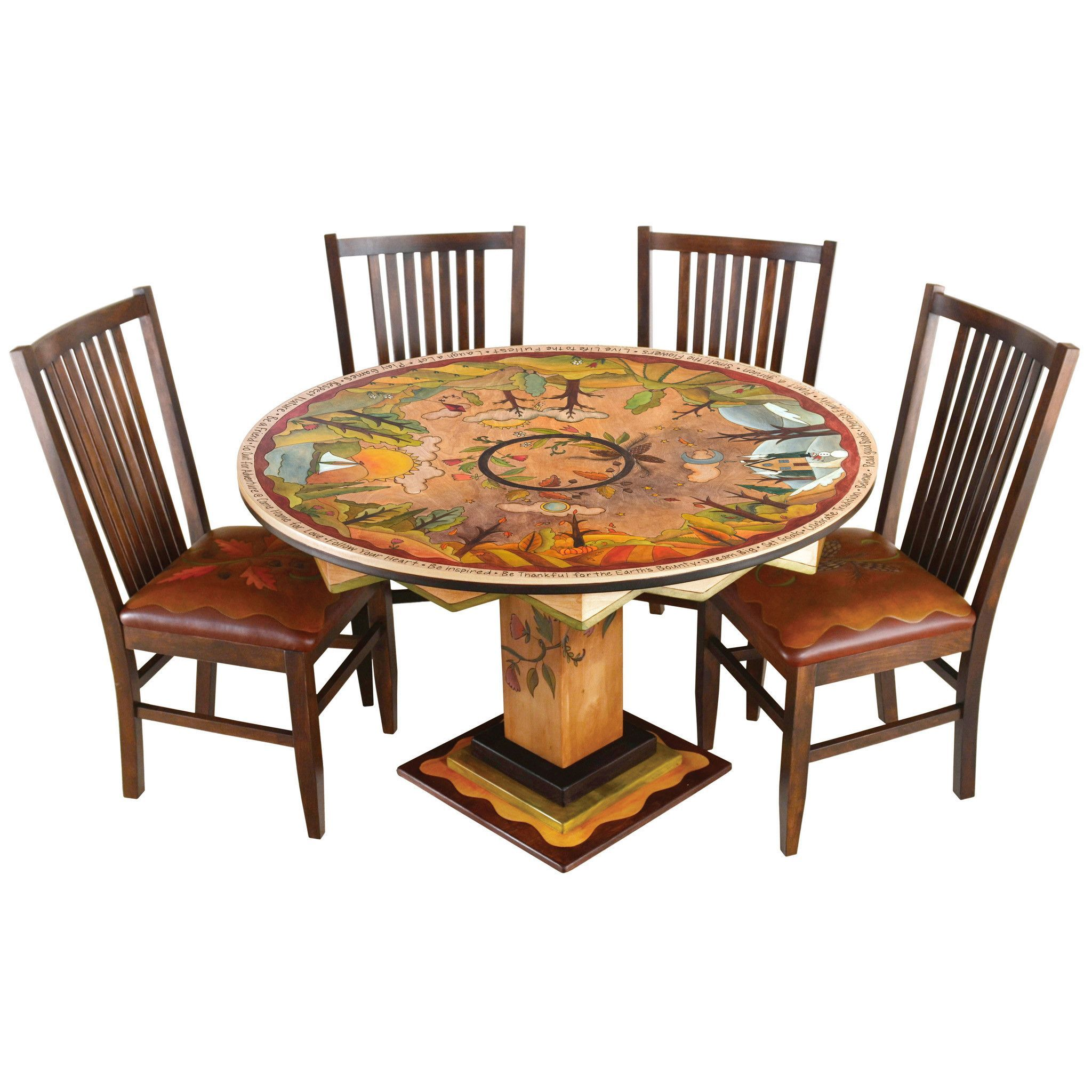 round dining table by sticks din d73626 dining table on hand painted dining room tables id=85539