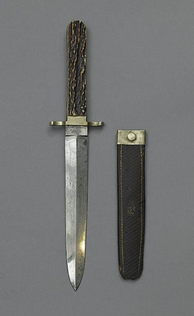 Horn-handled dagger used by John Wilkes Booth to stab Major Henry Rathbone after shooting Abraham Lincoln.