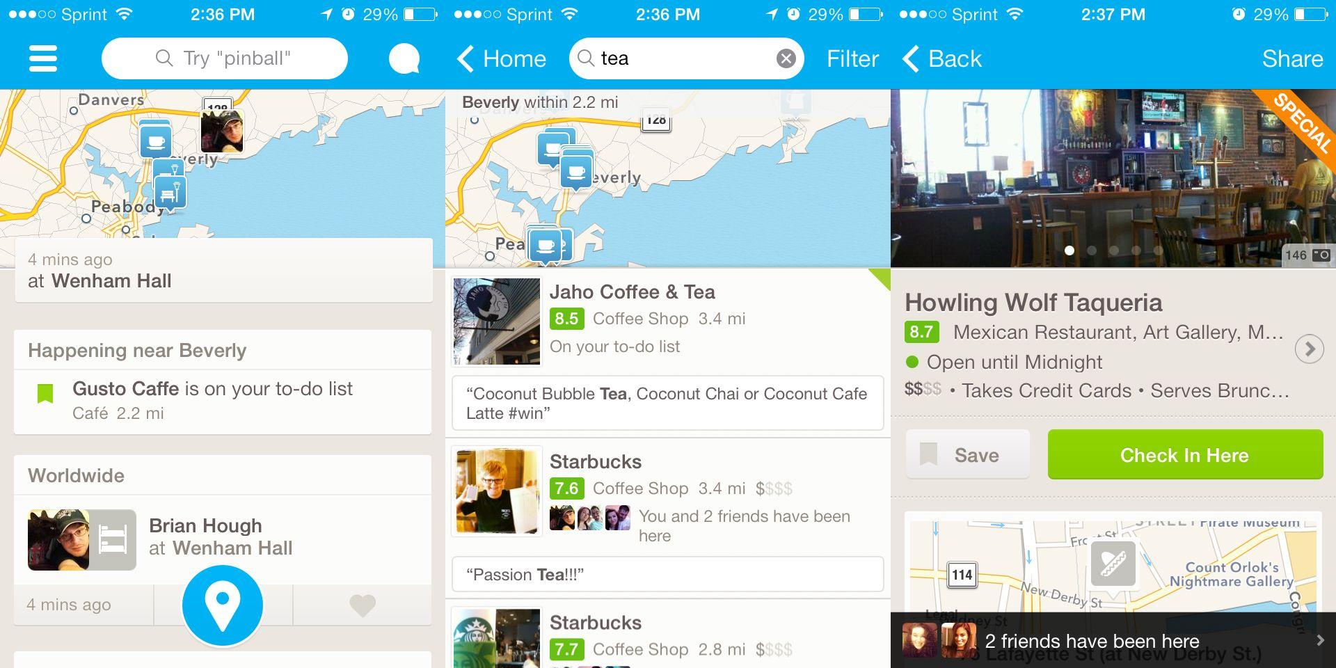 Foursquare App Ios7 Google Search Localguide Competitors Pinterest