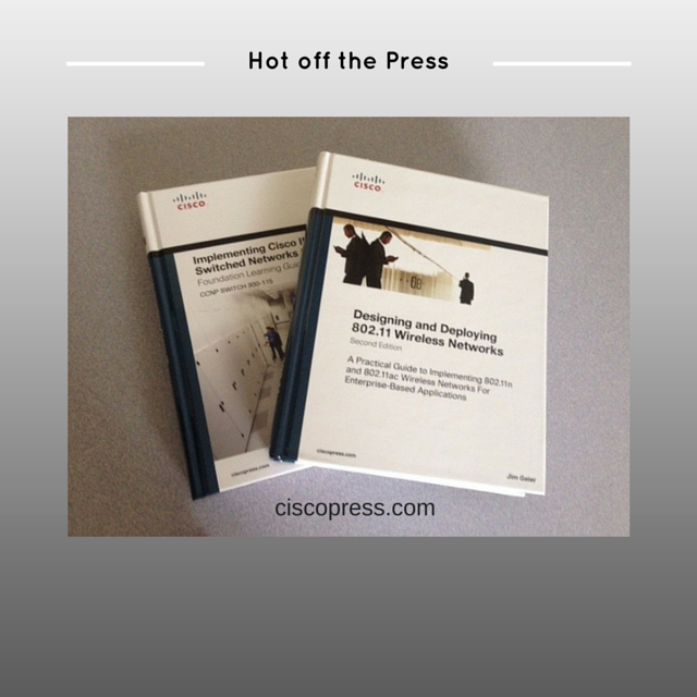 Two new Cisco Press books hot off the press: Designing and