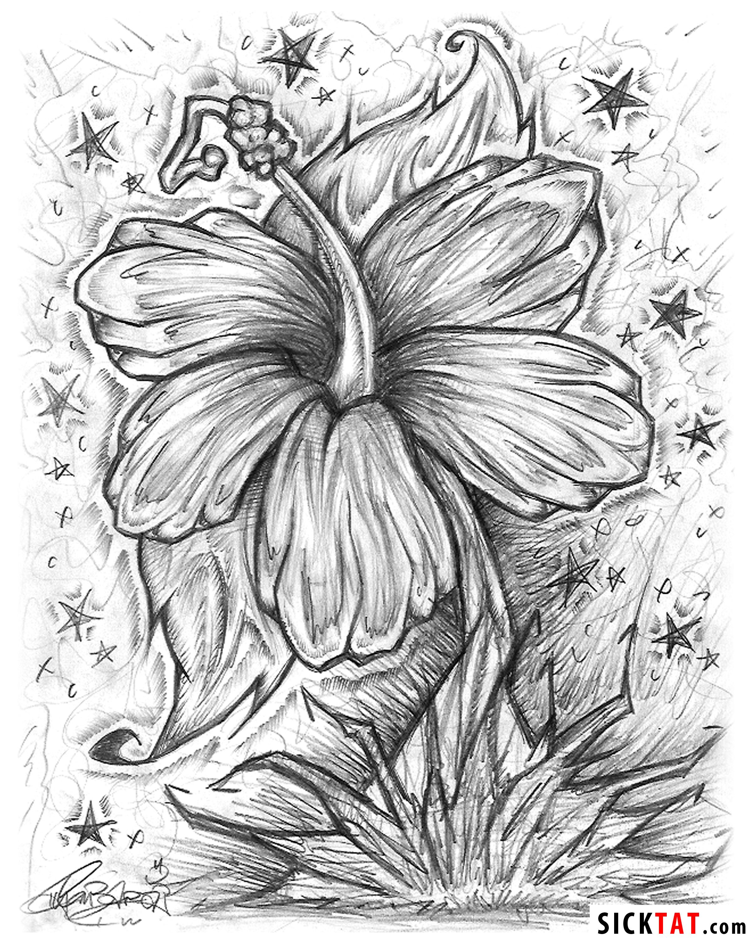 drawing cool flowers