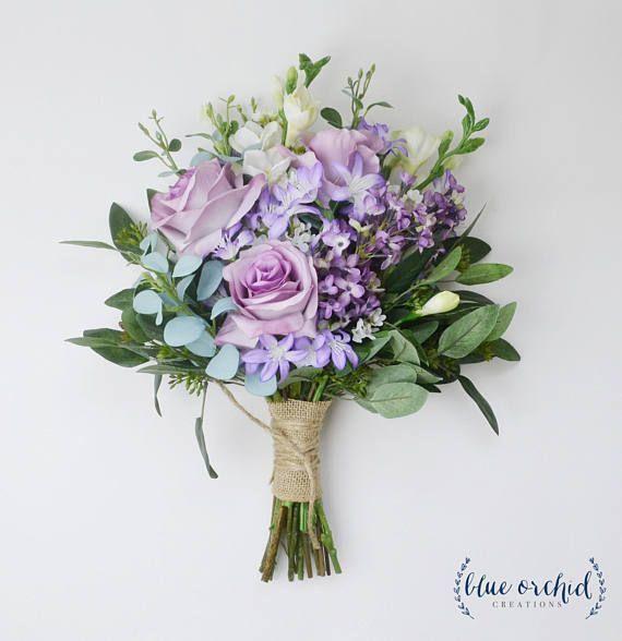 Hochzeitsstrauß Hochzeitsblumen Boho Bouquet Brautstrauß Gartenstrauß lila La...