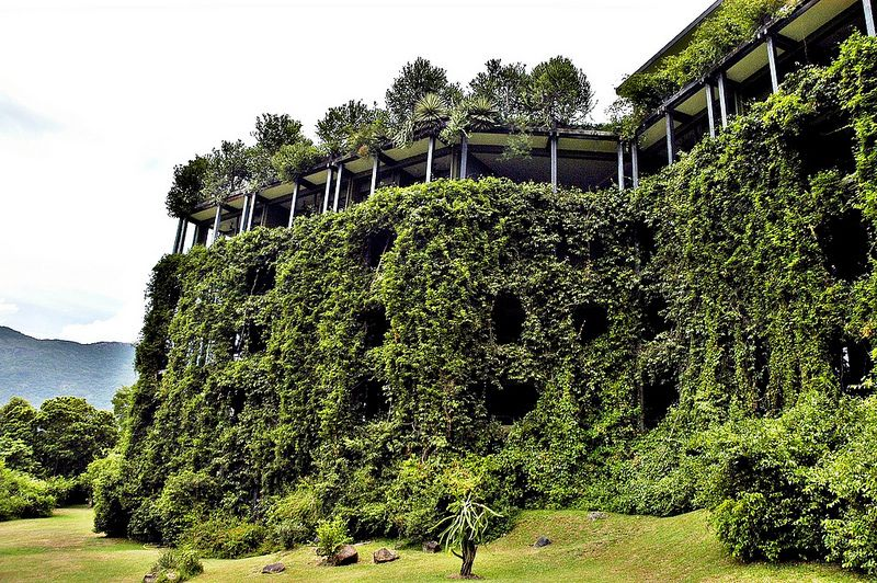 Green cliff exterior heritance kandalama resort dambulla for Kandalama hotel sri lanka