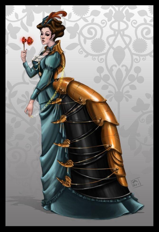 Steampunk illustration by Sarah Austin