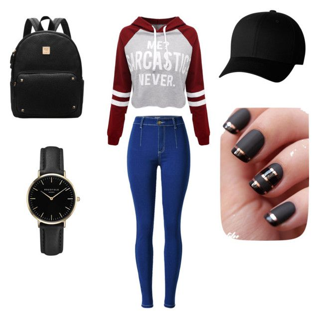 """""""Spring look"""" by anchous1330 ❤ liked on Polyvore featuring WithChic, Flexfit and ROSEFIELD"""