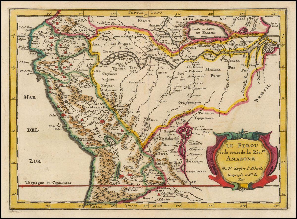 La Evolucion Del Mapa Del Peru A Lo Largo De La Historia Geografia Infinita Mapas Antiguos Mapa De America Latina Mapas