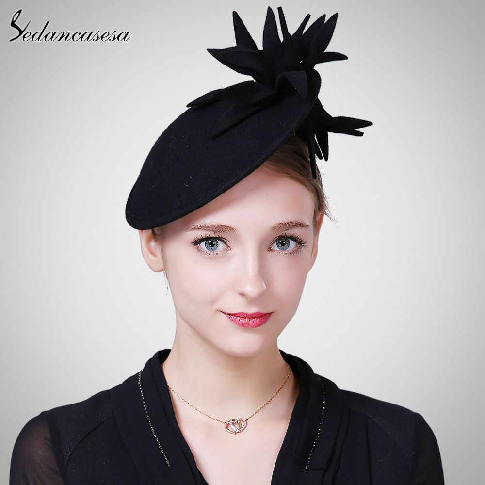 24a210bd11610 Autumn and winter Female Hat Body British Style wool retro Fascinator hats  for Women Handmade Flower Do you want it  shop  beauty  Woman s fashion   Products ...