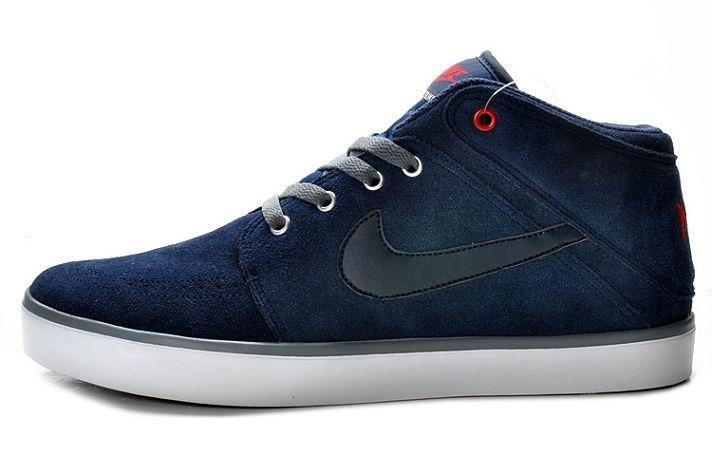 85.00 Nike Suketo Mid Leather Suede Navy Black | Nike suketo