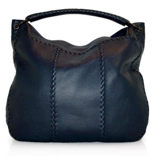 6849137c0 Bottega Veneta Midnight Blue Deerskin Hobo Bag Review Buy Now ...