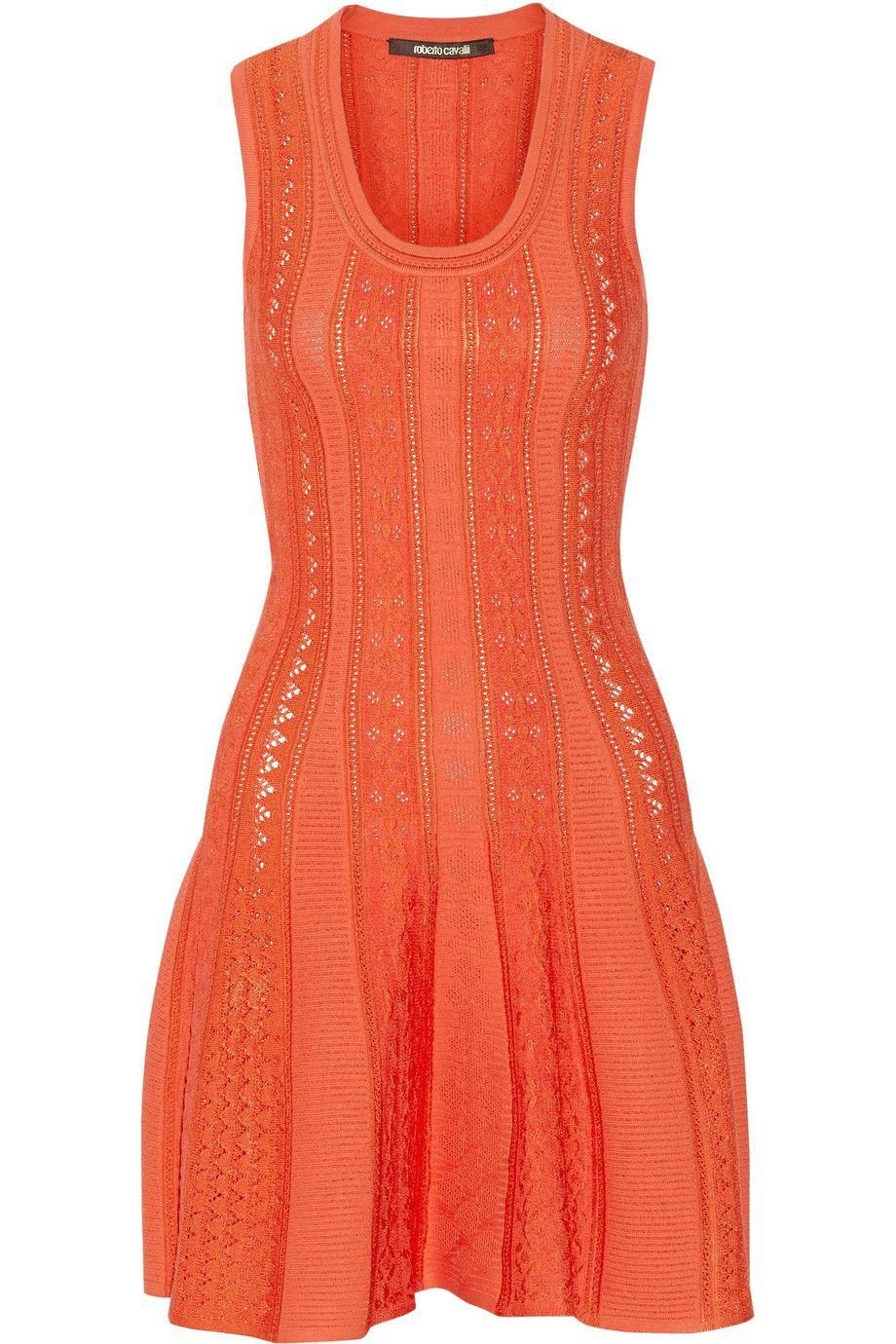 ROBERTO CAVALLI Stretch-Knit Mini Dress. #robertocavalli #cloth #dress