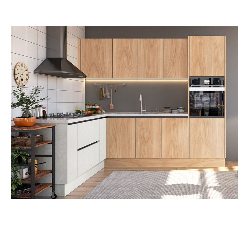 2020 Lansenluna New Zealand Wood Grain Melamine Modern Mini Kitchen Cabinet Designs For Small Kitchens Find Complete Details About 2020 Lansenluna New Zealand In 2020