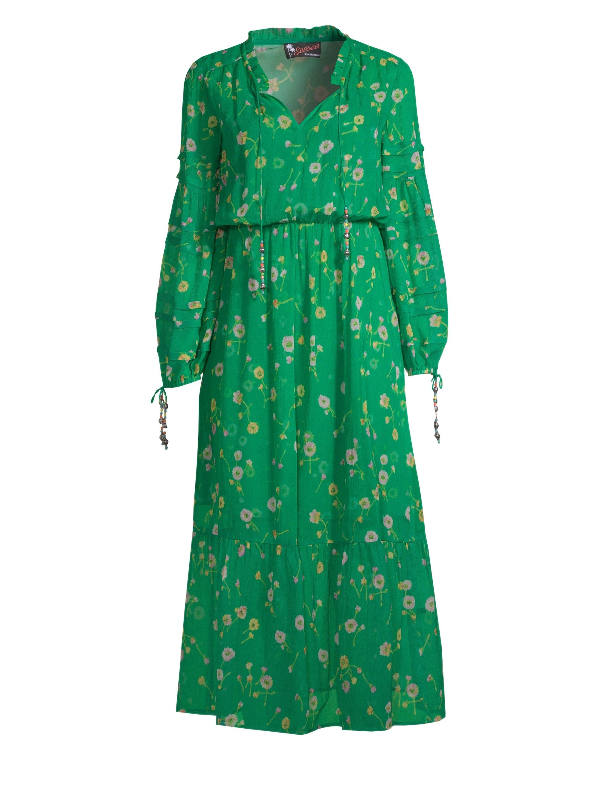 a83e1ec946 The Kooples Silk Floral-Print Dress - Green 4 | Products | Dresses ...