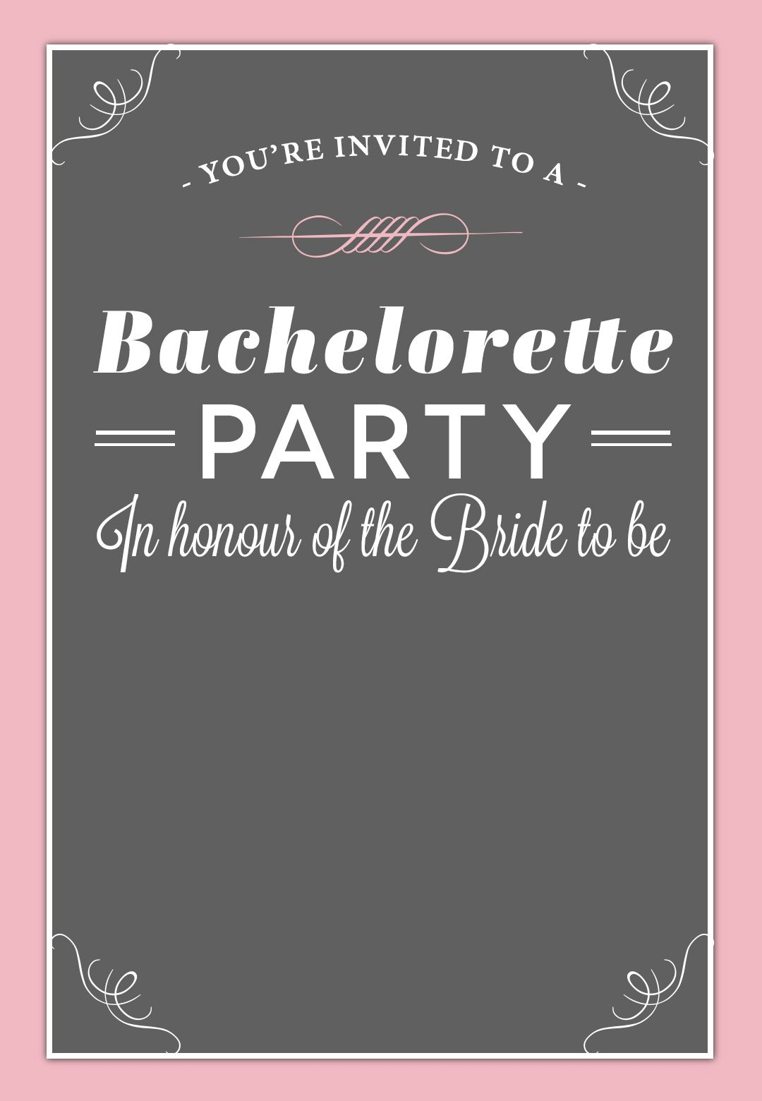 image regarding Free Printable Bachelorette Party Invitations known as Bachelorette Celebration #Invitation - Free of charge Printable No cost