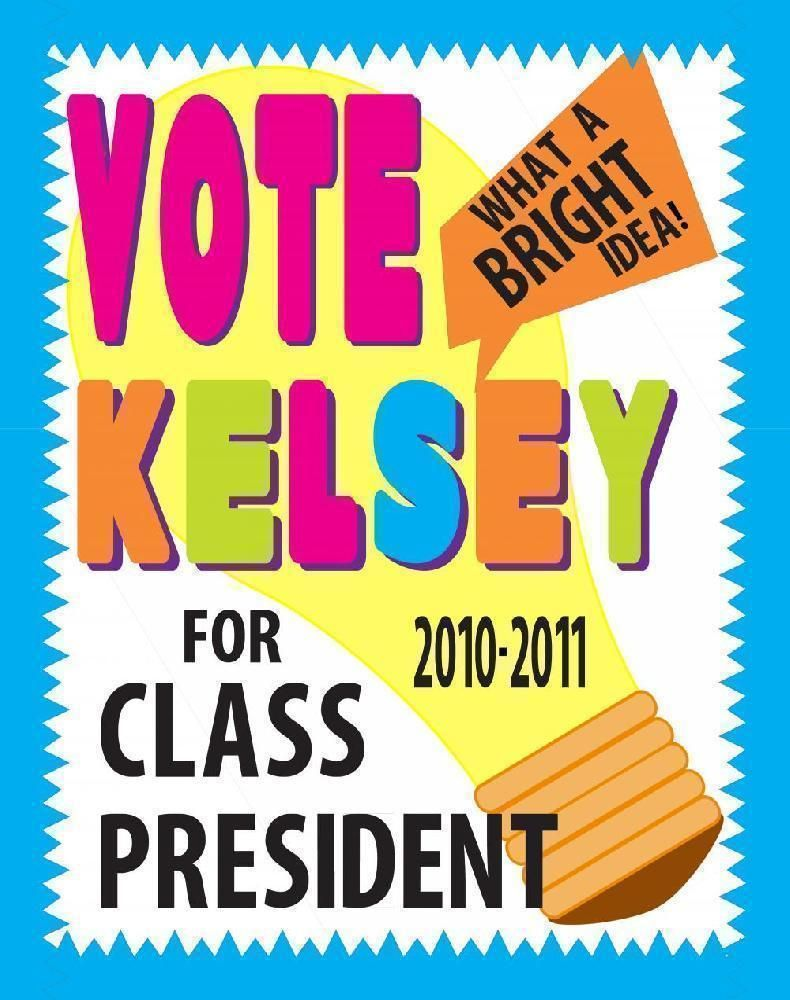 make a school election poster bright idea class president voting