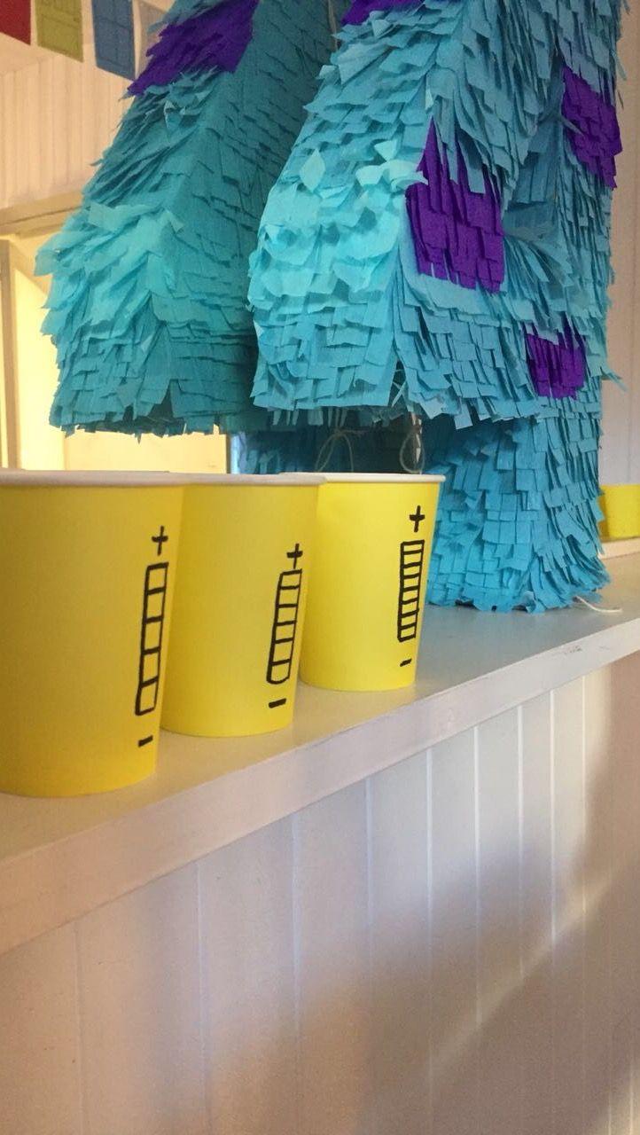 Vasos amarillos cotillon diy tubos de energia para ambientacion ...
