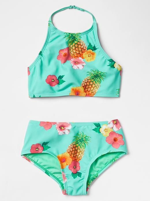 Pineapple High Waisted Swim Two Piece Product Image