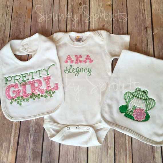 Aka legacy alpha kappa alpha sorority inc 3 by spunkysprouts baby clothes amp styles