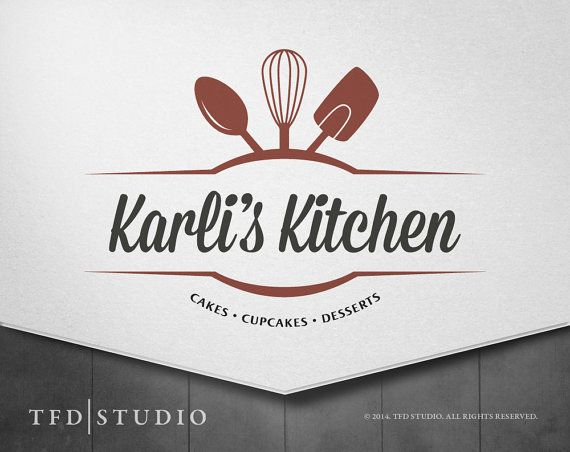 tfd studio professionally designed bakerykitchen logo available on etsycom only 75 - Kitchen Logo