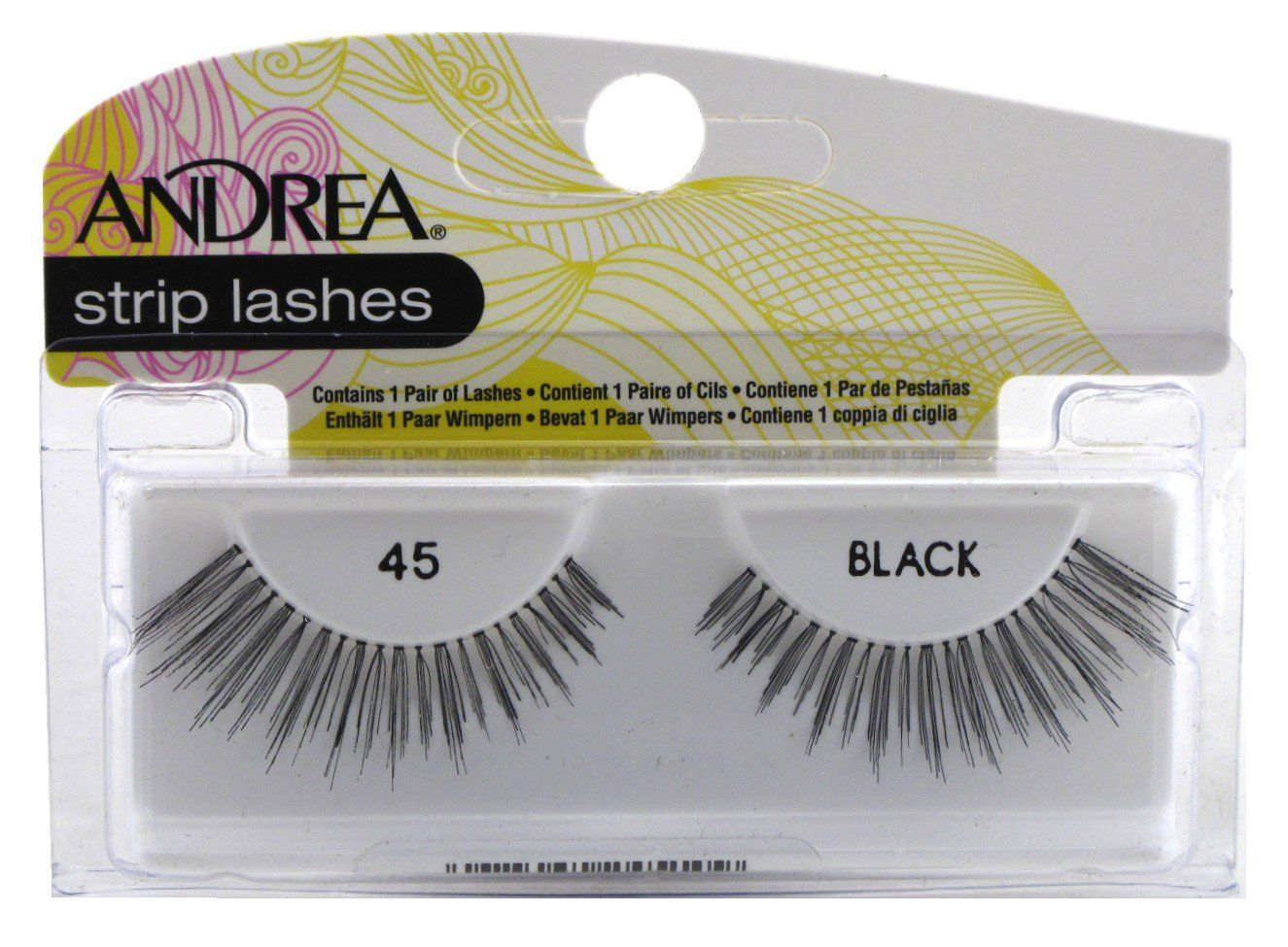 707c9a68ce5 Andrea Lashes Strip Style 45 Black (3 Pack). 3 Pieces -. Lush lashes ...