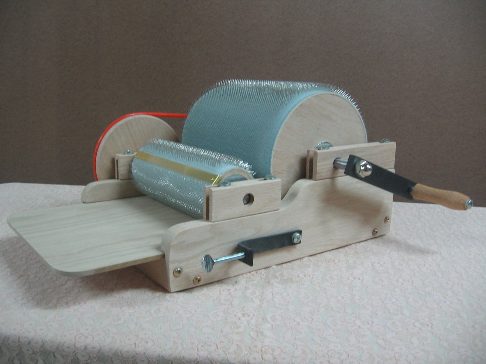how to make a wool drum carder